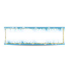 Winter horizontal banner template with golden vector image