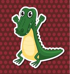 A toy crocodile vector image