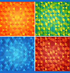 abstract backgrounds set with different patterns vector image