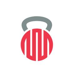 Abstract kettlebell logo icon design vector
