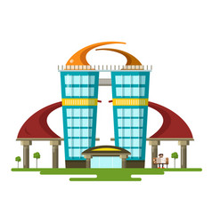 abstract modern flat design building vector image