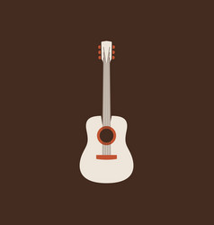 acoustic guitar icon isolated string ill vector image
