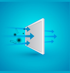 Air filter effect antibacterial dust solid vector