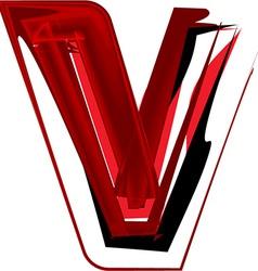 Artistic font letter V vector
