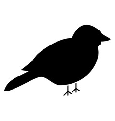 bird the black color icon vector image
