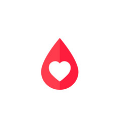 blood donation icon with heart vector image
