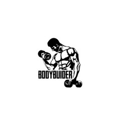 body builder fitness vector image