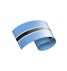 botswana flag on a white vector image