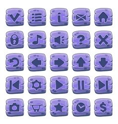 Buttons square purple vector