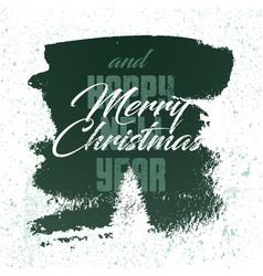 calligraphic retro christmas greeting card design vector image