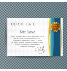 certificate template design business award vector image