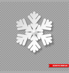 christmas holiday snowflake with shadow and pearls vector image