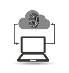 Cloud computer connected fingerprint secure vector