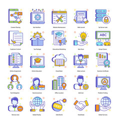 Corporate concepts in flat style pack vector