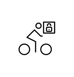 cosed for bicycling vector image