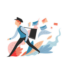 delivery service messages and mail postman or vector image