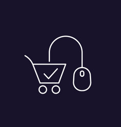E-commerce line icon vector
