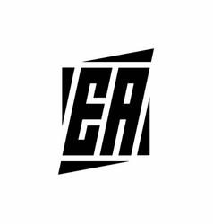 Ea logo monogram with modern style concept design vector