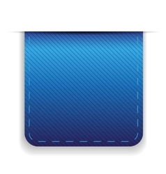 Empty ribbon blue vector image