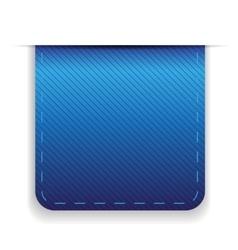 Empty ribbon blue vector