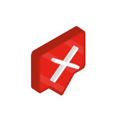 error sign social media isometric icon vector image