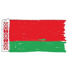 Flag of Belarus handmade vector image