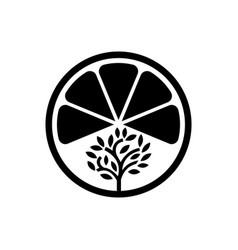 fruit house tree logo template design and support vector image