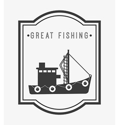 Great fishing design vector
