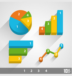Growth chart 3d vector