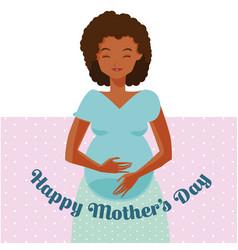 Happy mothers day cartoon vector