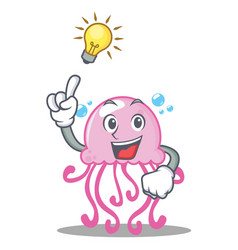 Have an idea cute jellyfish character cartoon vector