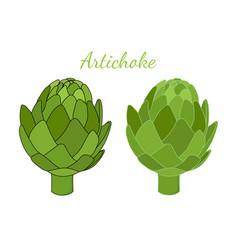 healthy artichoke cartoon flat style vector image
