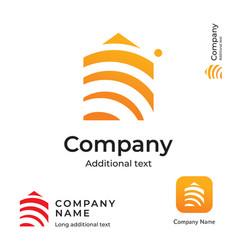 house construction modern logo design building vector image