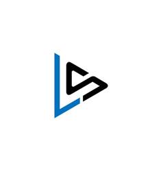 Ls letter logo design vector