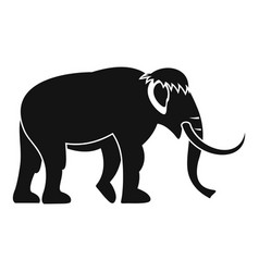 mammoth icon simple style vector image