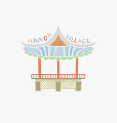 namsangol hanok village in vector image