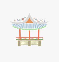 Namsangol hanok village in vector