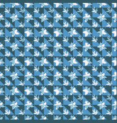 Of blue green and white triangles vector