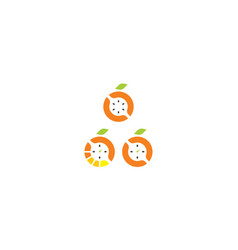 orange logo icon vector image