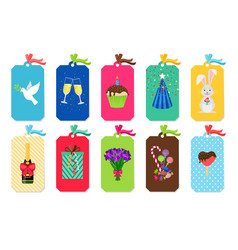 party colorful tags set vector image