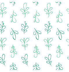 pastel leaves pattern vector image