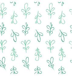 Pastel leaves pattern vector