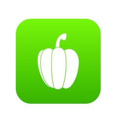 pepper icon digital green vector image