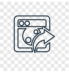 photo share concept linear icon isolated on vector image
