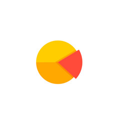 pie chart icon flat element vector image