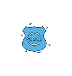 police shield emblem force icon design vector image