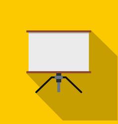 Presentation screen icon flat style vector