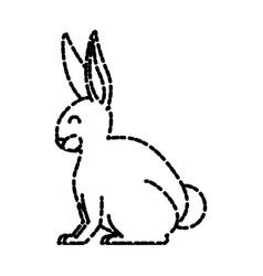 rabbit animal cartoon vector image