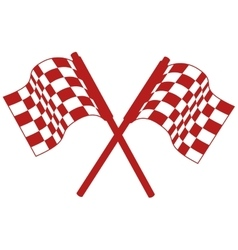 Rally flags isolated icon vector