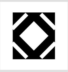 rectangle o ornamental logo vector image
